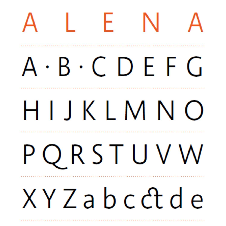 #3 ALENA – Roland Stieger, Typograf